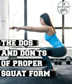 The Do's and Don'ts of Proper Squat Form - Fit Bottomed Girls 100 Workout, Squat Workout, Workout Ideas, Fit Girl Motivation, Fitness Motivation, Daily Motivation, Squat For Beginners, Proper Squat Form, How To Squat Properly