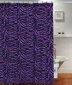 22Pc Bath Accessories Set purple zebra animal print bathroom rugs ...