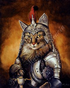 Commissioned Royal Pet Portraits by LordTruffles on Etsy ----haha reminds me of the catfights I hear every day ;)