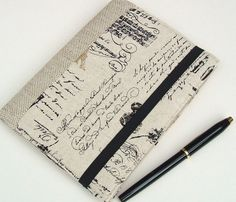 Book Style Kindle Touch Cover  Vintage Script on by Covercraft, $33.50