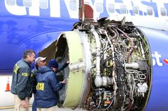 Global airlines began inspecting some Boeing 737 engines on Wednesday as an investigation gathered pace into an explosion which killed a passenger on a Southwest Airlines flight in the first fatal U. airline accident in almost a decade. Motor Jet, Houston, Federal Aviation Administration, Used Engines, Old Planes, Southwest Airlines, Airbus A380, Airline Flights, Jet Engine
