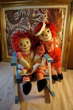 vintage raggedy ann andy dolls