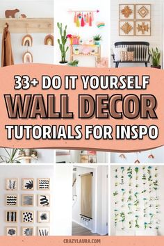 Diy Wall Art, Diy Wall Decor, Wall Decorations, Photo Wall Hanging, Diy Projects To Try, Craft Projects, Mason Jar Projects, Succulent Wall, Sell Diy