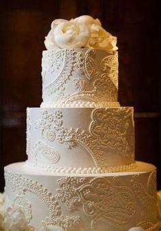 filigree cake