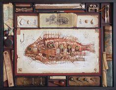 02-Vladimir-Gvozdev-Surreal-Steampunk-Animal-Drawings-www-designstack-co