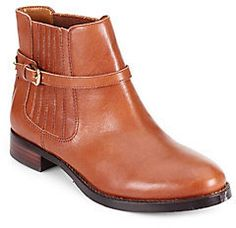 $199, Tan Leather Chelsea Boots: Ivanka Trump Leather Chelsea Boots. Sold by Off 5th. Click for more info: https://lookastic.com/women/shop_items/21389/redirect