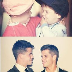 Pinning because it's just cute. Twins, Max and Charlie Carver.