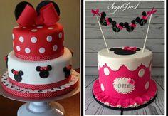 Imagens: https://picasaweb.google.com/bfpaguar/Cakes e http://cakesdecor.com/cakes/185071-bunting-minnie-cake