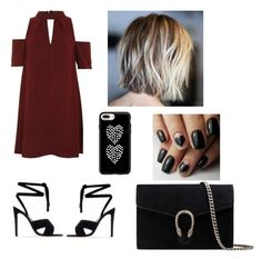 """""""Unnamed #11"""" by nyla2323 on Polyvore featuring Topshop, Gianvito Rossi, Casetify and Gucci"""