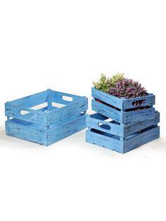 Niebieskie skrzynki na kwiaty 3 szt. 133 PLN #limango #ogród #lato #lawenda