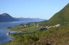 View from Rekdal, Norway. In the background is the Hurtigruten on it's way to Molde.