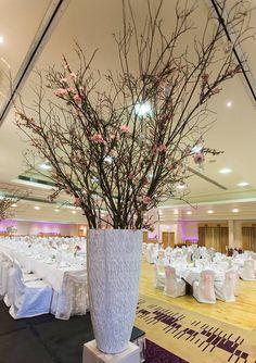 The Radisson Hotel, Sligo Wedding Venue Decorations, Wedding Venues, Table Decorations, Radisson Hotel, Glass Vase, Trees, Beautiful, Home Decor, Wedding Places
