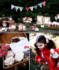 This was for a little red riding hood birthday party, but a lot of the ideas could work for a woodland themed baby shower as well