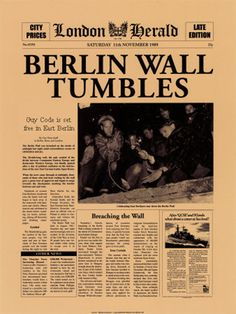 1989 berlin wall comes down