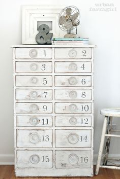 Numbered cabinet tutorial from UrbanFarmgirl