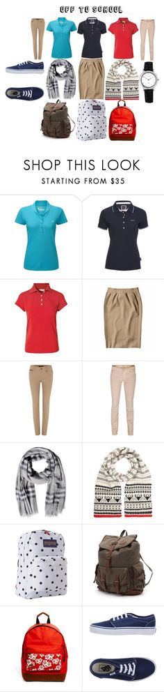 """The school uniform! Life at private school"" by pandapup ❤ liked on Polyvore featuring Queen of the Green, Barbour, Ballantyne, Reed Krakoff, Lauren Ralph Lauren, 7 For All Mankind, Burberry, Accessorize, JanSport and Billabong"