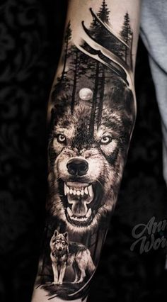 Over 120 male tattoos on the arm for inspiration - tattoos . - Over 120 male tattoos on the arm for inspiration – tattoos – - Wolf Tattoos Men, Badass Tattoos, Life Tattoos, Black Tattoos, Body Art Tattoos, Tattoos Masculinas, Wolf Tattoo Forearm, Forearm Sleeve Tattoos, Best Sleeve Tattoos