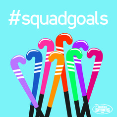 What are you #fieldhockey #squadgoals?