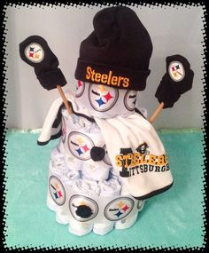 Pittsburgh Steelers Baby Snowman Diaper Cake  694efe468