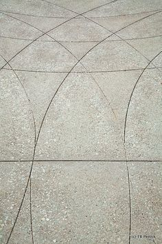 Stamped Concrete Herringbone Pattern At The Getty Center
