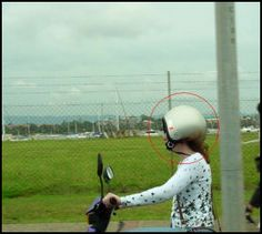 """This helmet doesn't feel right""... if i ever had to wear a helmet...."
