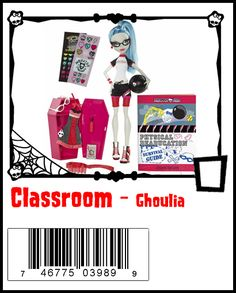Ghoulia Yelps Monster List, Frankenstein's Monster, Monster High Dolls, Monster High Ghoulia, Monster High School, Famous Monsters, Ever After High, Doll Toys, Fashion Dolls
