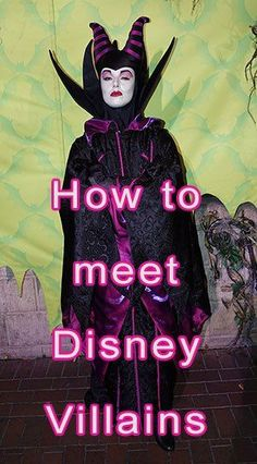 "How to meet Disney Villains at Walt Disney World Disney Villains have become more rare around Walt Disney World than they used to be. We used to see more villains at the ""Mix and Mingle"" in the Halloween Party, but that was removed, … Viaje A Disney World, Disney World 2017, Disney World Characters, Disney World Vacation Planning, Walt Disney World Vacations, Disney Resorts, Disney Planning, Disney Villains, Disney Parks"