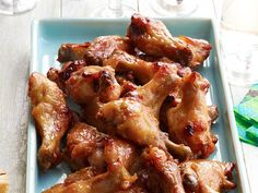 Make a glaze of Dijon mustard, honey, mustard powder and garlic to make deliciously sticky Chicken Wings.