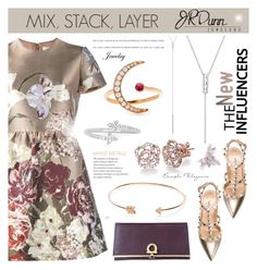 """""""Mix, Stack, Layer - JR Dunn contest"""" by cly88 ❤ liked on Polyvore featuring Valentino, EF Collection, Dunn and Salvatore Ferragamo"""