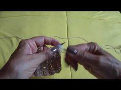 Ponto Barrado Furado em tricô