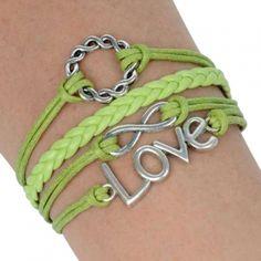 Charm Bracelet Love Infinity Jewelry $10