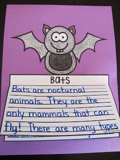 Bats writing activities and other fun October Writing Crafts for Kids