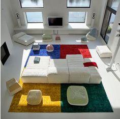 arquitrecos - blog de decoração: Aquecendo a decoração com... tapetes!