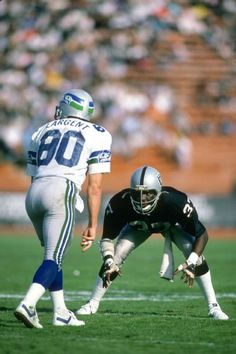 Lester Hayes vs Steve Largent. Classic 1980s AFC West battle.