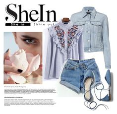 """Sheinside"" by nenyyou-27 ❤ liked on Polyvore featuring J Brand, WithChic, Levi's and Gap"