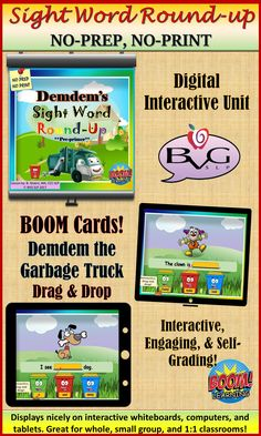 Love language and literacy as an SLP? Check out DemDem The Garbage Truck! Receptive Language, Speech And Language, Therapy Activities, Fun Activities, 3rd Grade Classroom, Kindergarten Classroom, Pre Primer Sight Words, Teaching Resources, Classroom Resources