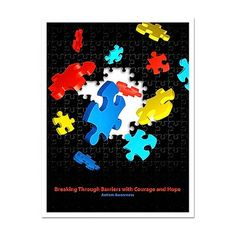 """""""Autism Awareness – Courage and Hope"""" Poster from http://shop.advanceweb.com."""