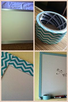 LOVING Decorative Duct Tape:   Look how I turned an ugly, industrial looking white board into a cute one!  Would you believe my husband had this ugly thing hanging in our hallway?  Now I can take my duct tape to my classroom.  Watch out!