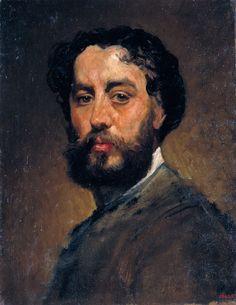 Antoni Caba (1838-1907) • Autorretrato, hacia 1875-80