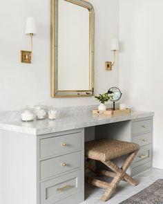 Pink Home Decor, Home Office Decor, Tampa Homes, Dressing Room Closet, Dressing Rooms, Dressing Table, Master Bedroom Bathroom, Bathroom Inspo, Bathroom Ideas