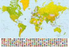 wall mural world map paper self adhesive old style globe