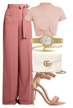 Sem título #2411 by mariandradde on Polyvore featuring polyvore fashion style Valentino Gianvito Rossi Gucci Rolex Cartier clothing