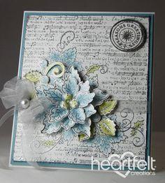 Heartfelt Creations | Blue Sparkling Poinsettia