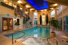 piscina interior estilo romano