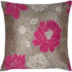 Almofada Baroque Flowers Rosa. Almofada com flores para decorar a sua sala.
