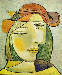 Pablo Picasso, 1938 Portrait de femme au chapeau