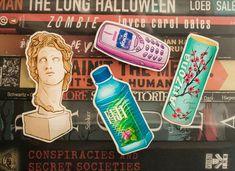 Vaporwave, Arizona Green Teas, Marble Bust, Vinyl Sticker Sheets, Mailing Envelopes, Fiji Water Bottle, Marketing, Sheet Sets, Stickers