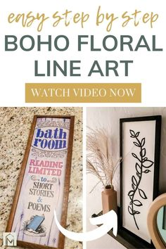 Learn how to make floral line art! This tutorial is one of the easiest ways to achieve a modern boho style without fancy artistic skills or a lot of cash.