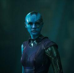 Karen Gillan as Nebula in Guardians of the Galaxy!