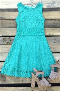 Boutique, Dresses, Champion Of Love Lace Dress - Green